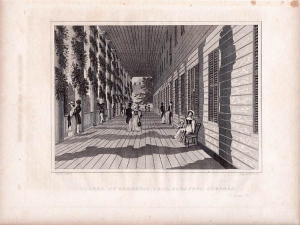 Piazza of Congress Hall Saratoga Springs New York 1846