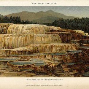 Yellowstone Park, Sinter Terraces of the Mammoth Geyser