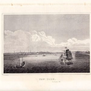 View of New York From the Sea Drawn by J R Smith Original Engraving 1846